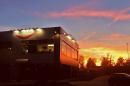La sede di Amicodentista di Caronno Pertusella al tramonto